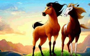 hai con ngựa