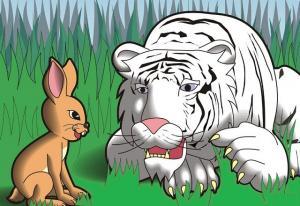 Con thỏ và con hổ - Truyện Cổ Tích Loài Vật Đặc Sắc Việt Nam