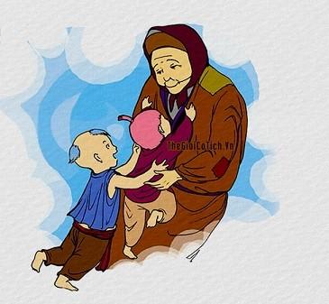 Truyện cổ tích Bà cháu - Câu chuyện cảm động về tình cảm gia đình