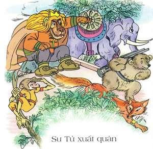 Truyện Sư tử xuất quân - Truyện ngụ ngôn La Phông - ten chọn lọc