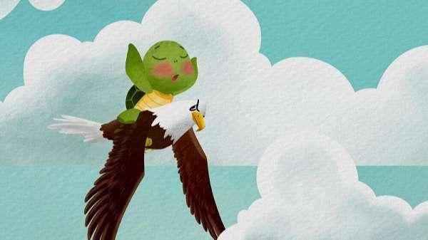 Truyện Rùa và Đại Bàng - Truyện ngụ ngôn Aesop ý nghĩa, hay nhất cho bé