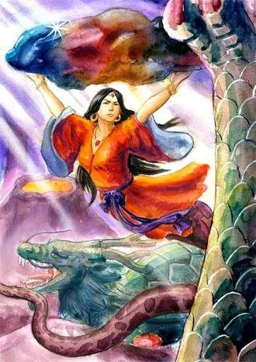 Nữ Oa nương nương đội đá vá trời - Thần thoại Trung Quốc đặc sắc nhất